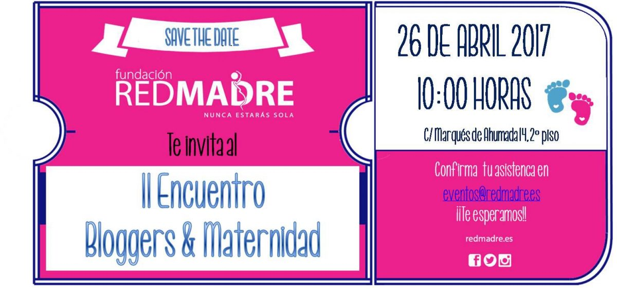 Save date encuentro bloguer maternidad 2017